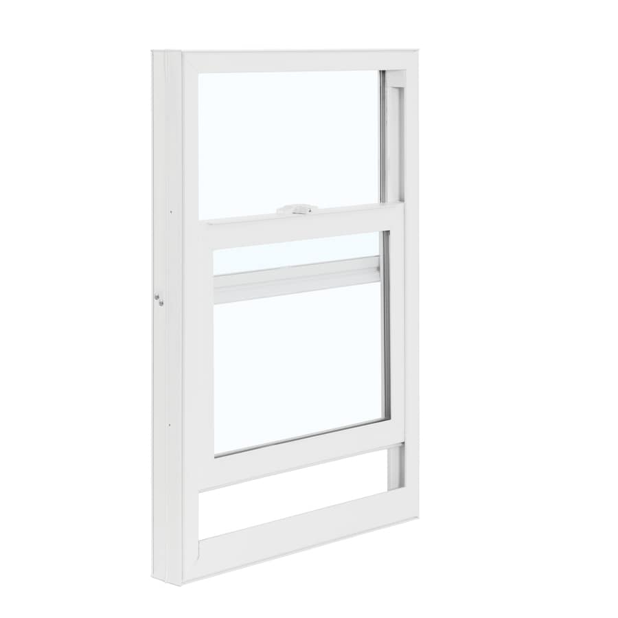 ReliaBilt 3050 Series Vinyl Double Pane Single Strength Replacement Mobile Single Hung Window Works with Iris (Rough Opening: 28-in x 46-in; Actual: 27.5-in x 45.75-in)