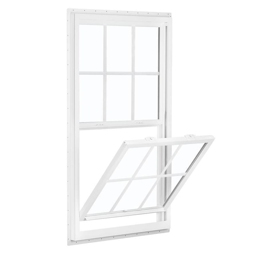 ReliaBilt 150 Series Vinyl Double Pane Single Strength Single Hung Window (Rough Opening: 32-in x 62-in; Actual: 31.5-in x 61.5-in)