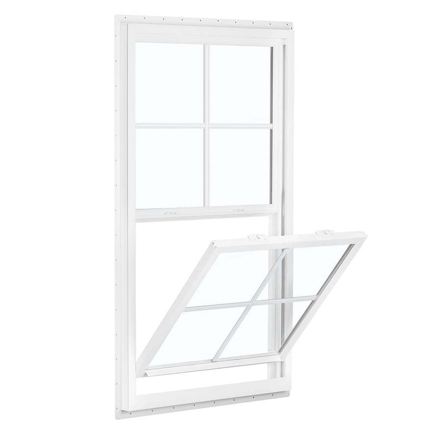 ReliaBilt 150 Vinyl Double Pane Double Strength New Construction Egress Single Hung Window (Rough Opening: 38-in x 62-in; Actual: 37.5-in x 61.5-in)