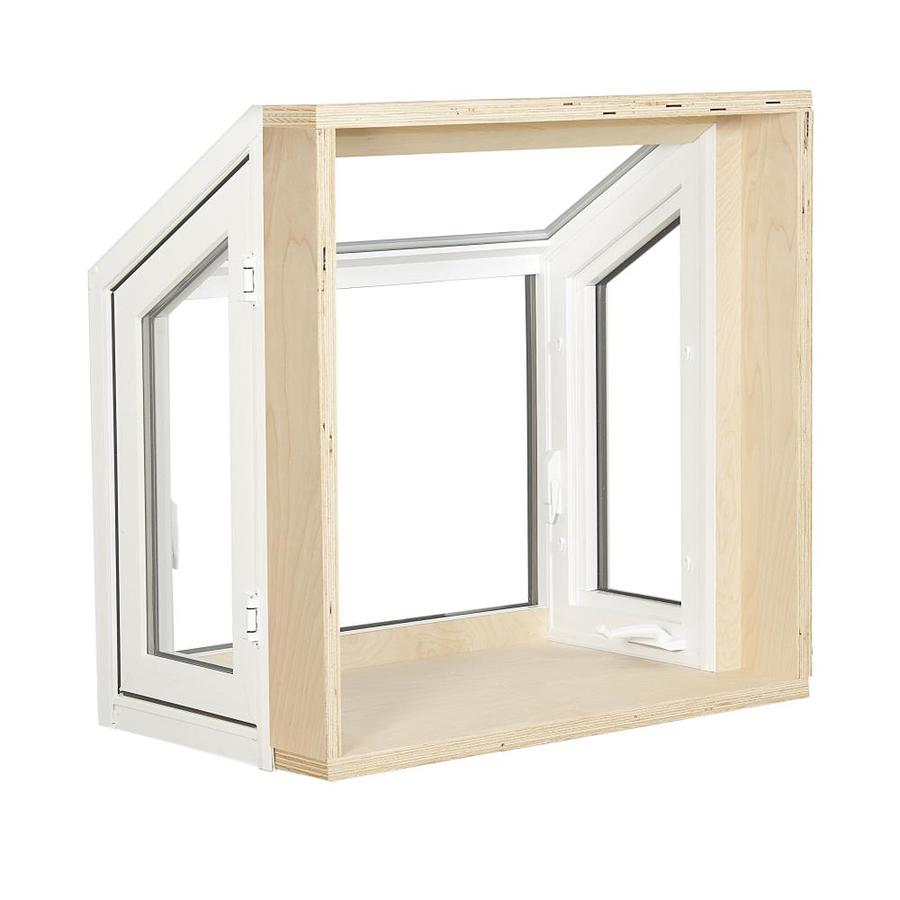 Charming ReliaBilt 3500 Casement Vinyl Replacement Garden Window (Rough Opening:  36.25 In X 36.25