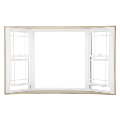 3500 Double Hung Vinyl Replacement White Bay Window Rough Opening 92 In X 60 Actual 91 25 59