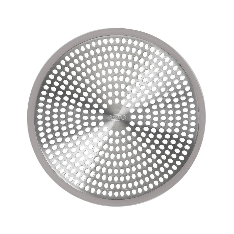 OXO Bright Silver Metal Drain Cover