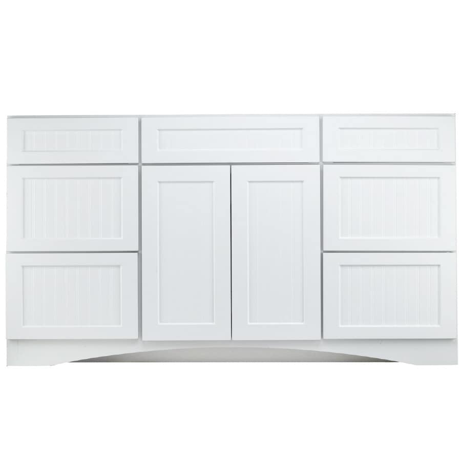 Kraftmaid 48 In White Bathroom Vanity Cabinet In The Bathroom Vanities Without Tops Department At Lowes Com