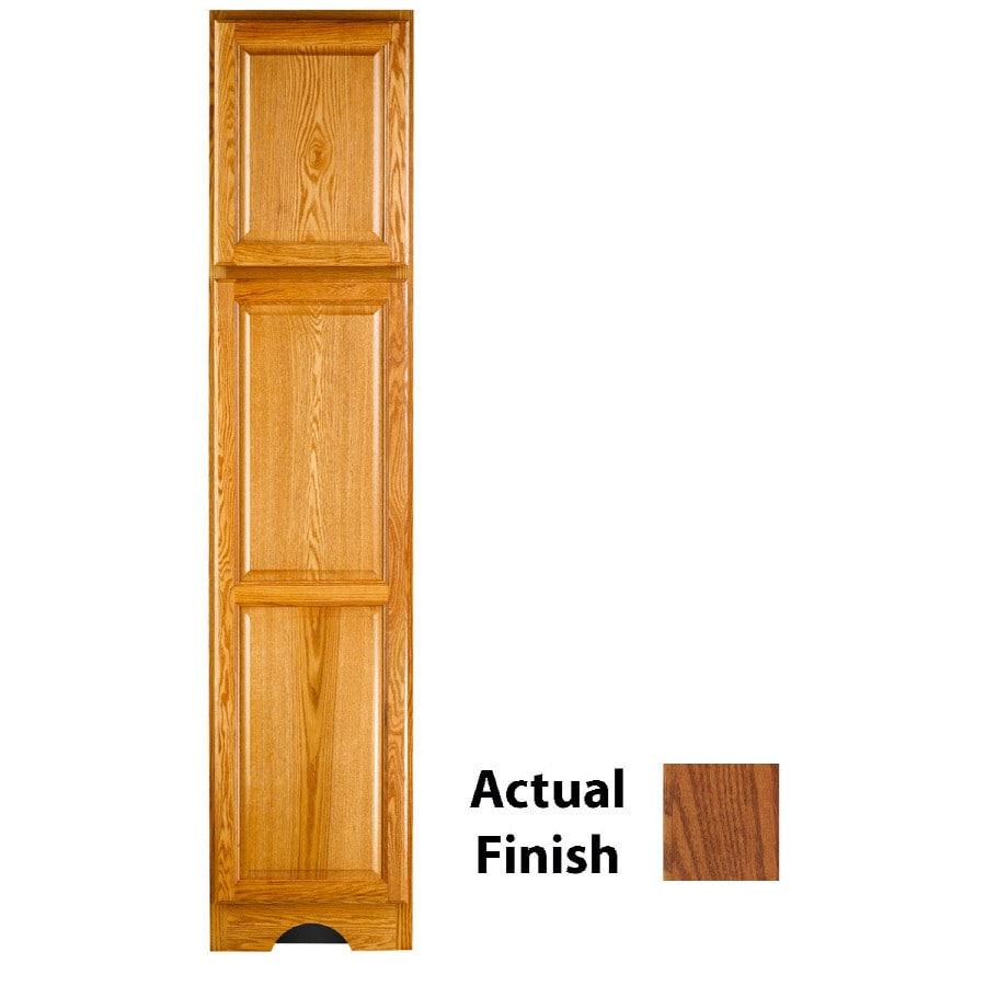 KraftMaid 18-in W x 83.5-in H x 18.88-in D Autumn Blush Oak Freestanding Linen Cabinet