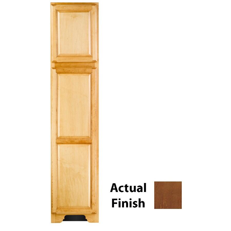 KraftMaid 18-in W x 83.5-in H x 18.88-in D Cognac Maple Freestanding Linen Cabinet