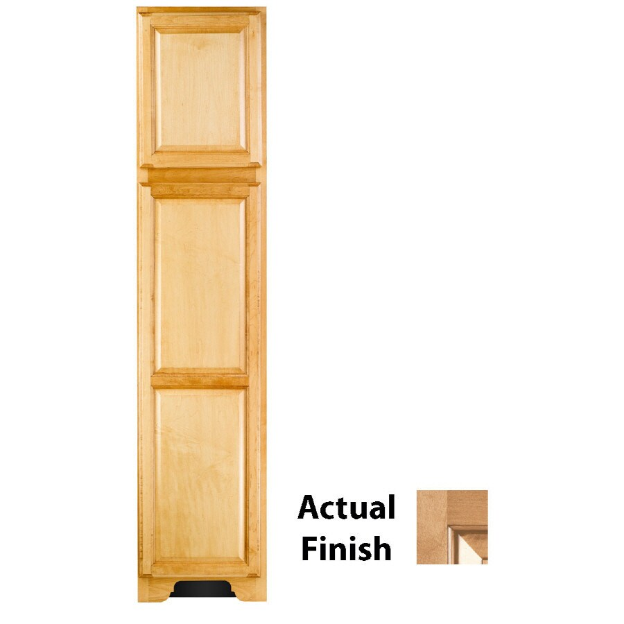 KraftMaid 18-in W x 83.5-in H x 18.88-in D Ginger Maple Freestanding Linen Cabinet