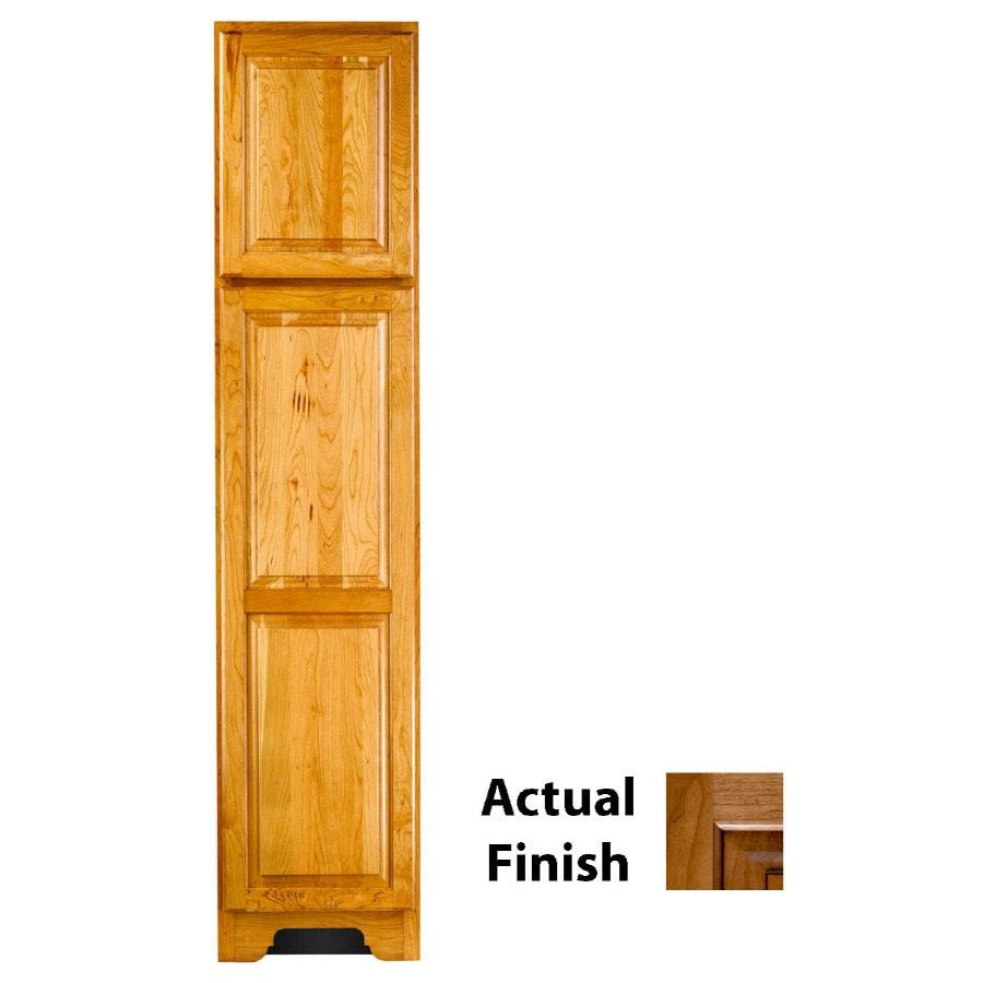 KraftMaid 18-in W x 83.5-in H x 18.88-in D Ginger Cherry Freestanding Linen Cabinet