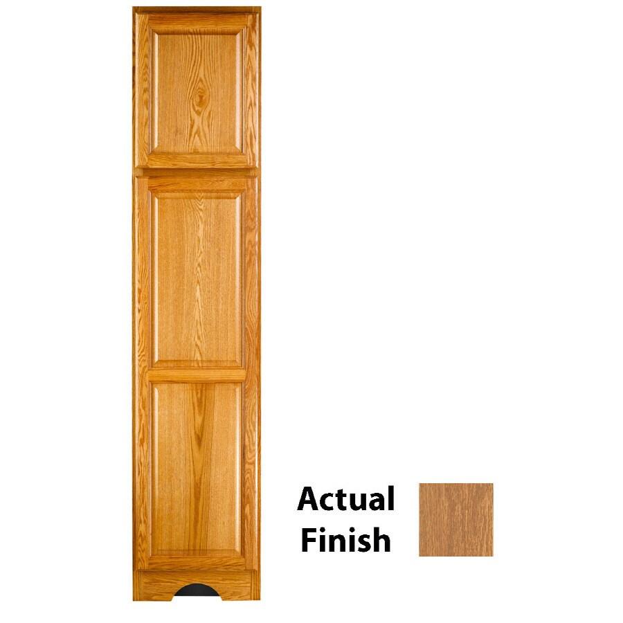 KraftMaid 18-in W x 83.5-in H x 18.88-in D Fawn Oak Freestanding Linen Cabinet