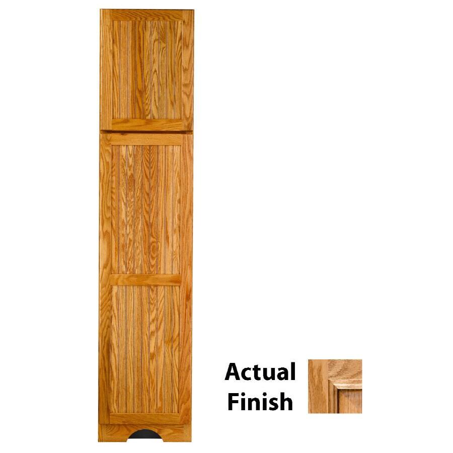 KraftMaid 18-in W x 83.5-in H x 21.88-in D Nutmeg Glaze Oak Freestanding Linen Cabinet
