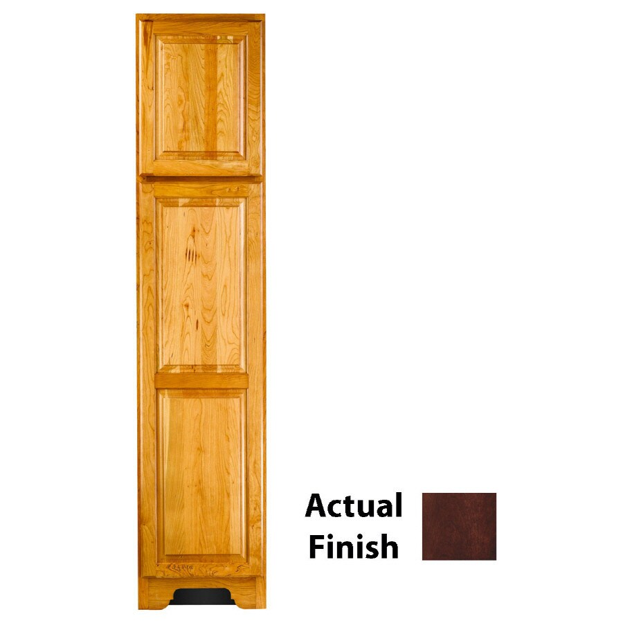KraftMaid 18-in W x 83.5-in H x 21.88-in D Kaffe Cherry Freestanding Linen Cabinet