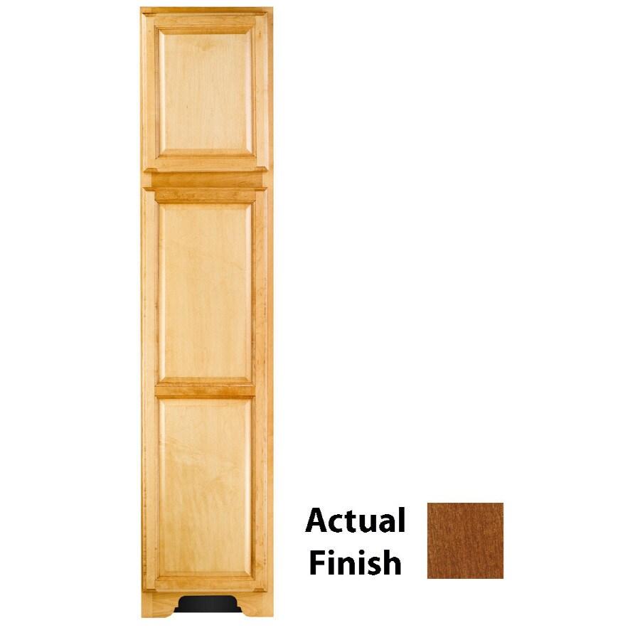 KraftMaid 18-in W x 83.5-in H x 21.88-in D Chestnut Maple Freestanding Linen Cabinet