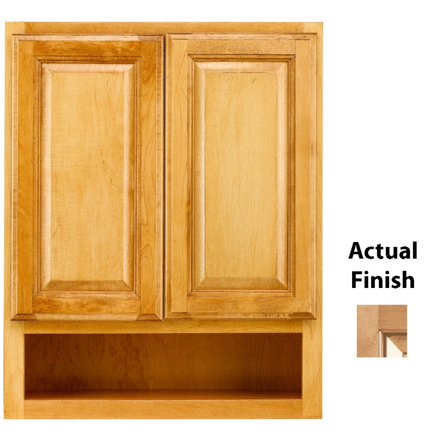 KraftMaid 24-in W x 30-in H x 7-in D Ginger Glaze Bathroom Wall Cabinet