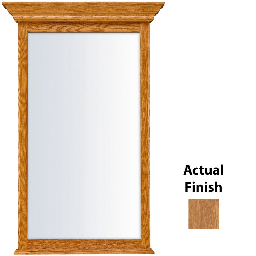 KraftMaid 25.44-in W x 40.75-in H Fawn Rectangular Bathroom Mirror