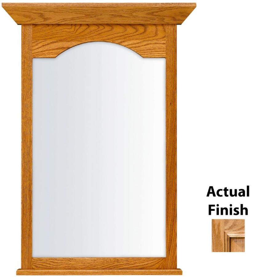 KraftMaid 25.44-in W x 40.75-in H Honey Spice with Mocha Highlight Rectangular Bathroom Mirror