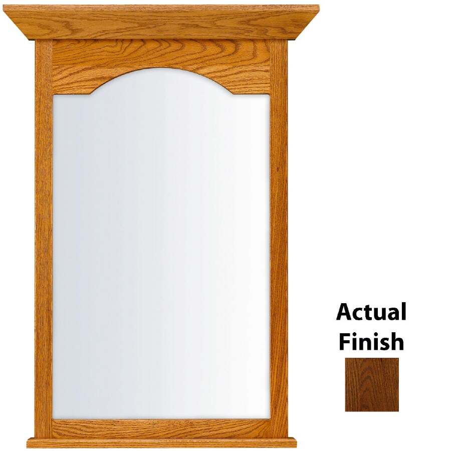 KraftMaid 25.44-in W x 40.75-in H Cognac Rectangular Bathroom Mirror
