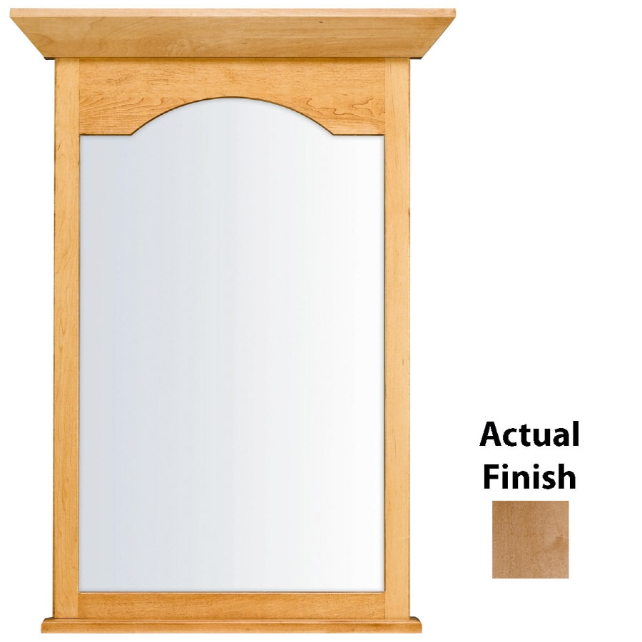KraftMaid 25.44-in W x 40.75-in H Toffee Rectangular Bathroom Mirror