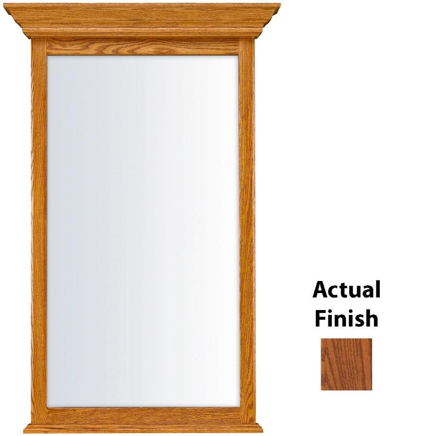 KraftMaid 25.44-in W x 40.75-in H Autumn Blush Rectangular Bathroom Mirror