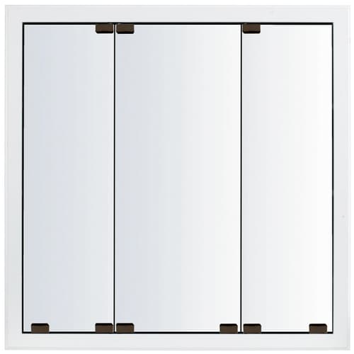 Kraftmaid Cottage 23 In X 28 In Square Surface Recessed Mirrored Wood Medicine Cabinet At Lowes Com