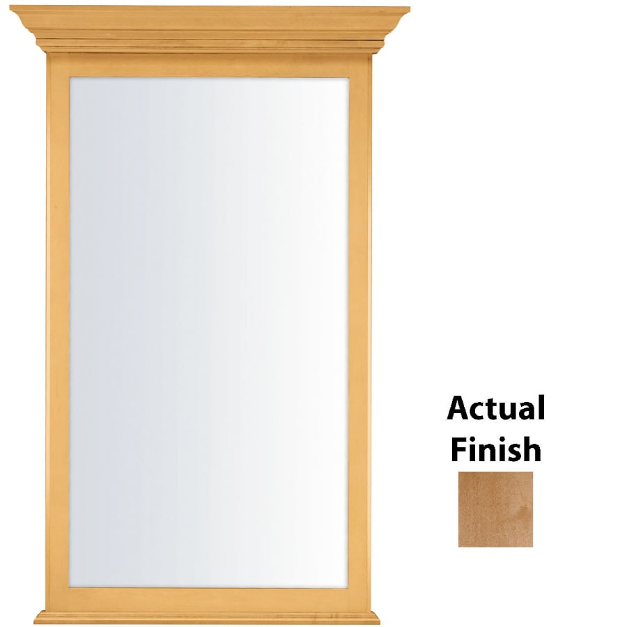 36 in h x 24 in w praline rectangular bathroom mirror at lowes com - Shop Kraftmaid 25 44 In W X 40 75 In H Toffee Rectangular