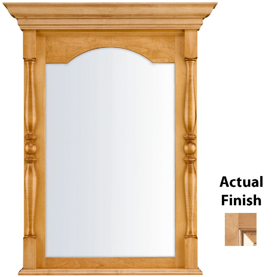 KraftMaid 28.95-in W x 37.05-in H Ginger with Sable Glaze Rectangular Bathroom Mirror