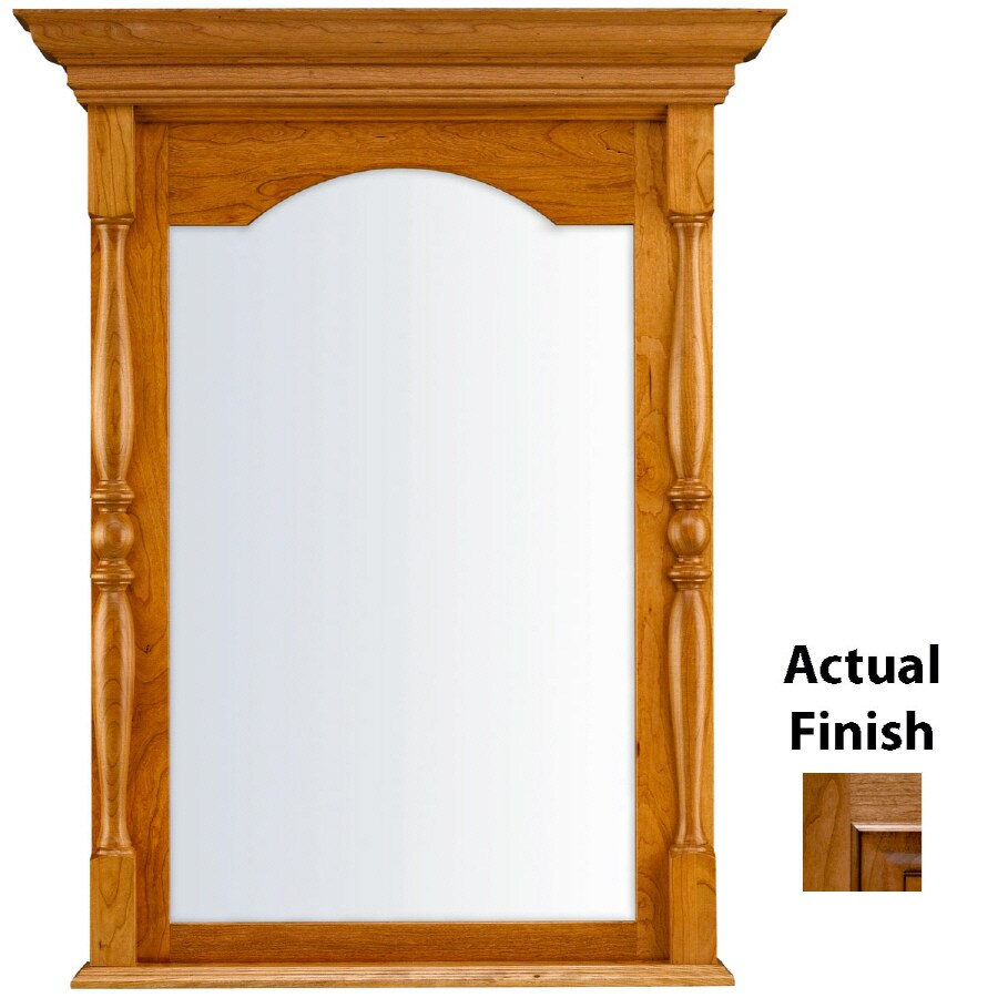 KraftMaid 28.95-in W x 37.05-in H Ginger with Sable Glaze Rectangular Bathroom Mirror