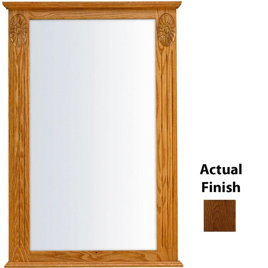 KraftMaid 25.25-in W x 37.5-in H Cognac Rectangular Bathroom Mirror