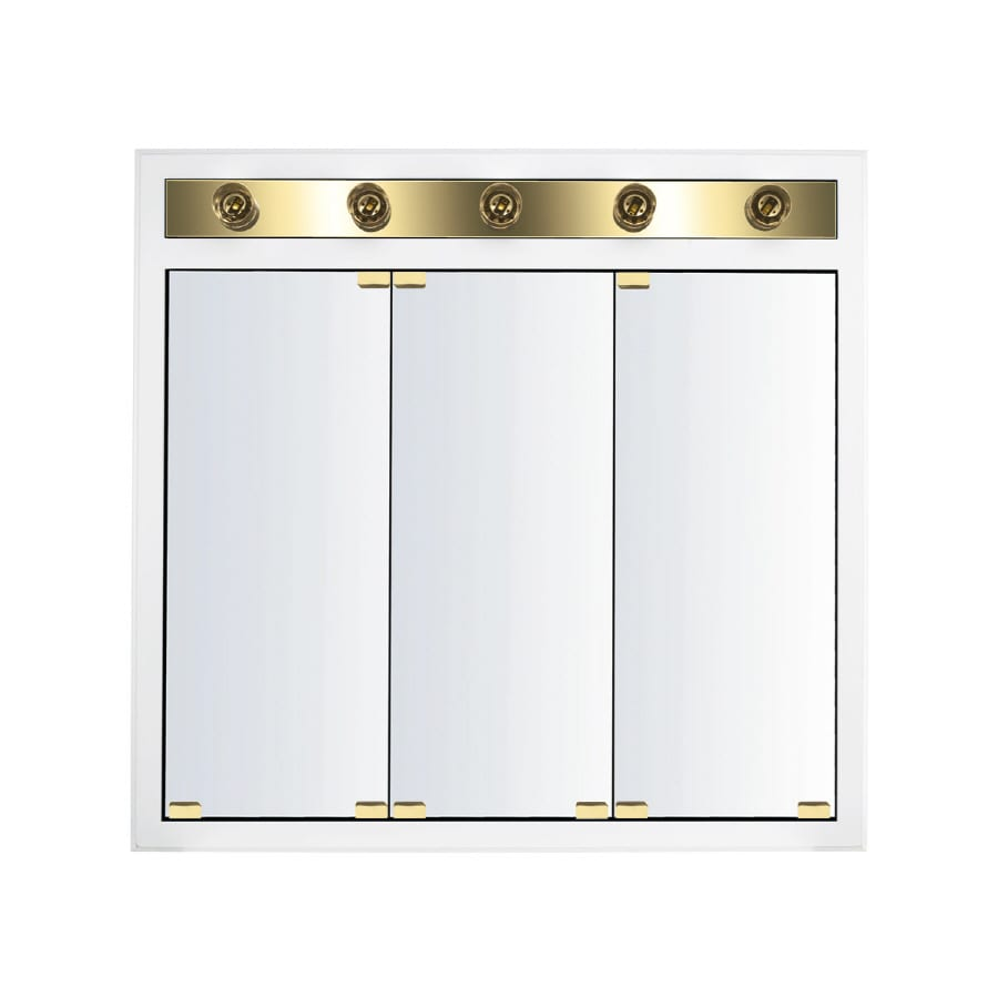Kraftmaid Recessed Medicine Cabinet: Shop KraftMaid Traditional 35-in X 33-in Square Surface