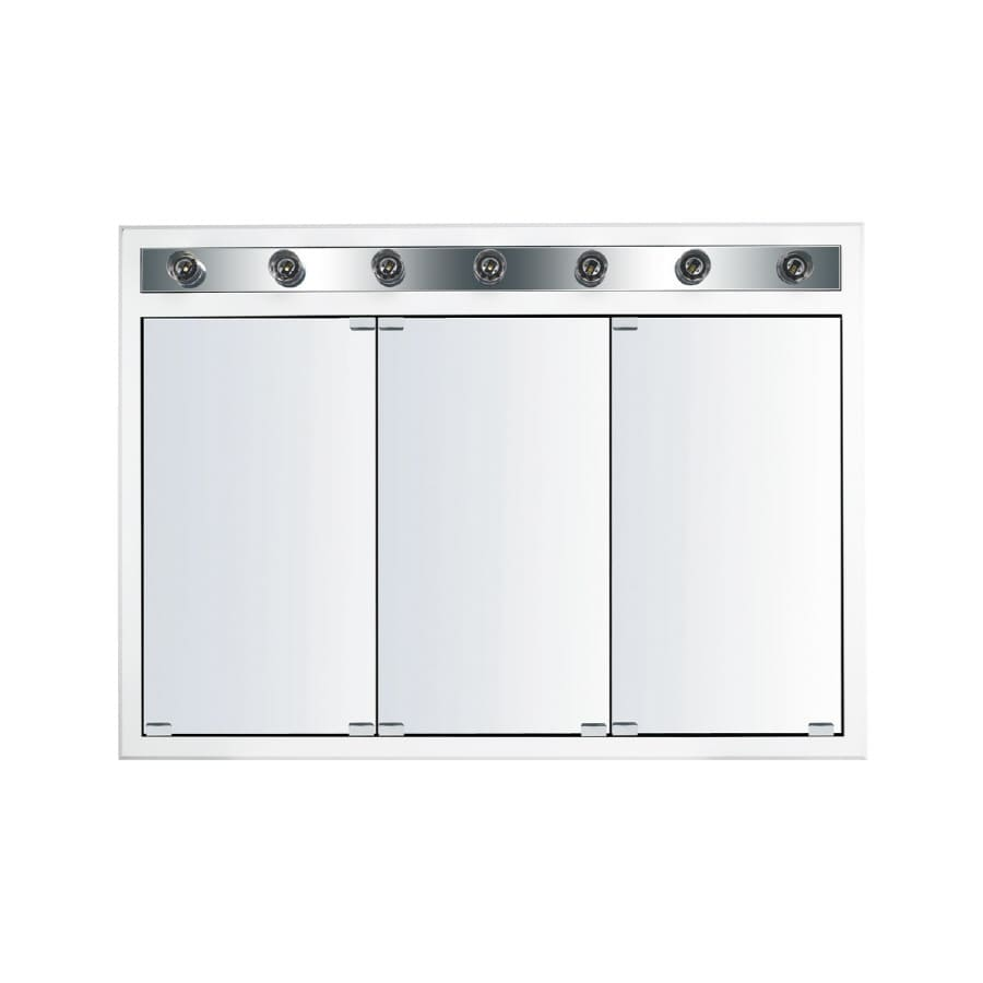 Kraftmaid Traditional 47 In X 33 Square Surface Recessed Mirrored Wood Medicine Cabinet With Light