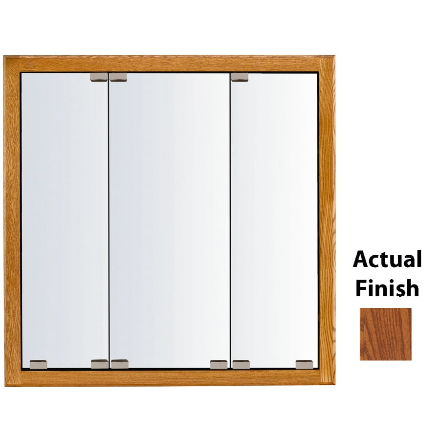 KraftMaid Formal 23-in x 28-in Square Surface/Recessed Mirrored Wood Medicine Cabinet
