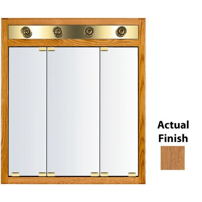 Kraftmaid Cottage 30 In X 35 In Square Surface Recessed Mirrored Wood Medicine Cabinet With