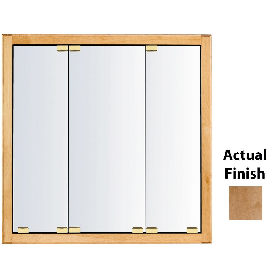Kraftmaid classic 47 in x 28 in square surface recessed mirrored wood