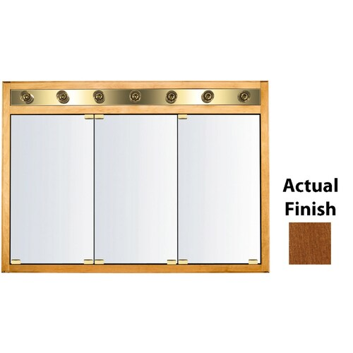 Kraftmaid Formal 47 In X 33 In Square Surface Recessed Mirrored Wood Medicine Cabinet With