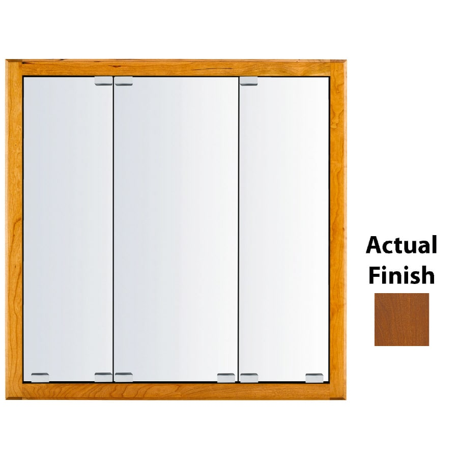 KraftMaid Formal 36-in x 30-in Square Surface/Recessed Mirrored Wood Medicine Cabinet