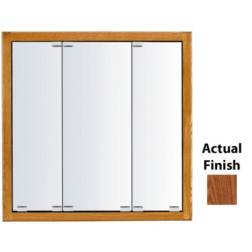 Kraftmaid Cottage 29 In X 28 In Square Surface Recessed Mirrored Wood Medicine Cabinet At Lowes Com