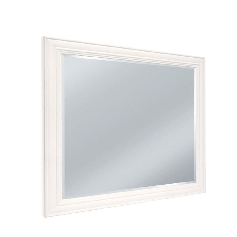 36 x 48 bathroom mirror shop woodgate select 48 in w x 36 in h bathroom mirror at 21819