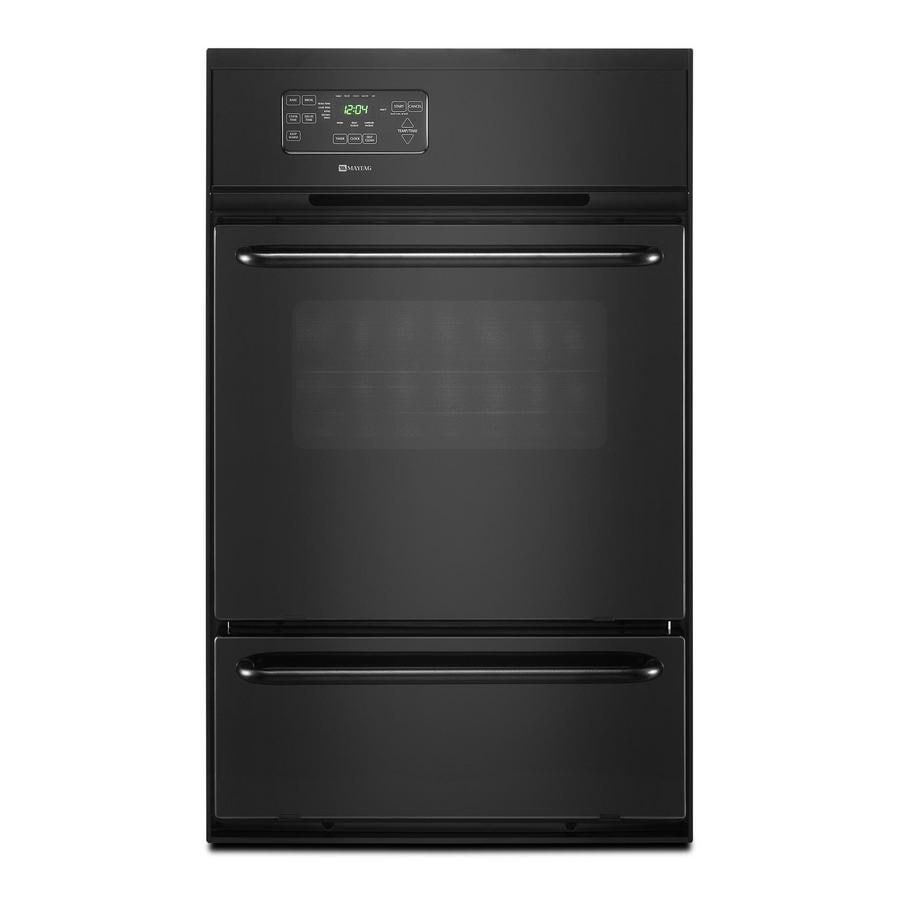Maytag Single Gas Wall Oven (Black)