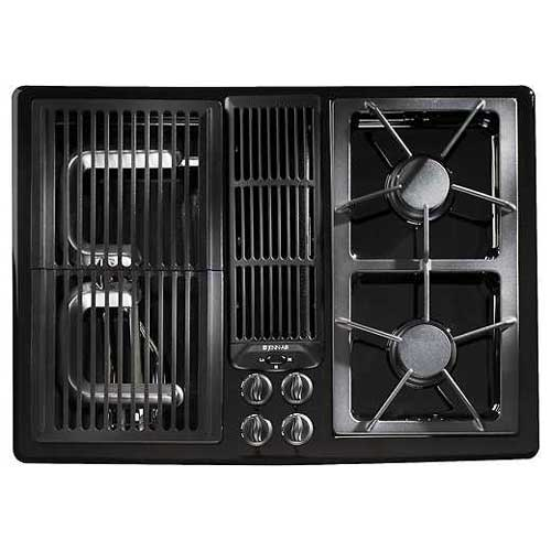 Jenn Air® 30 Inch Gas Downdraft Cooktop (Color: Black)