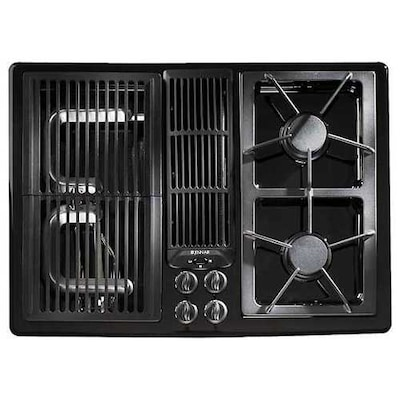 Jenn Air 30 Inch Gas Downdraft Cooktop Color Black At Lowes