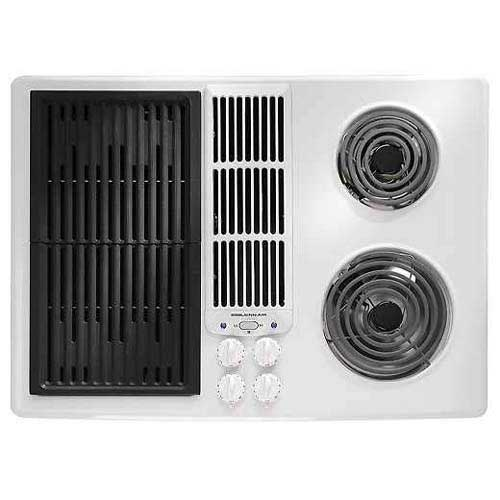 Jenn Air 30 Inch Electric Downdraft Modular Cooktop Color White