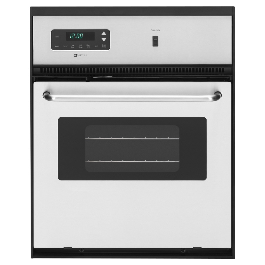 Maytag Self-Cleaning Single Electric Wall Oven (Stainless Steel) (Common: 24-in; Actual 23.875-in)
