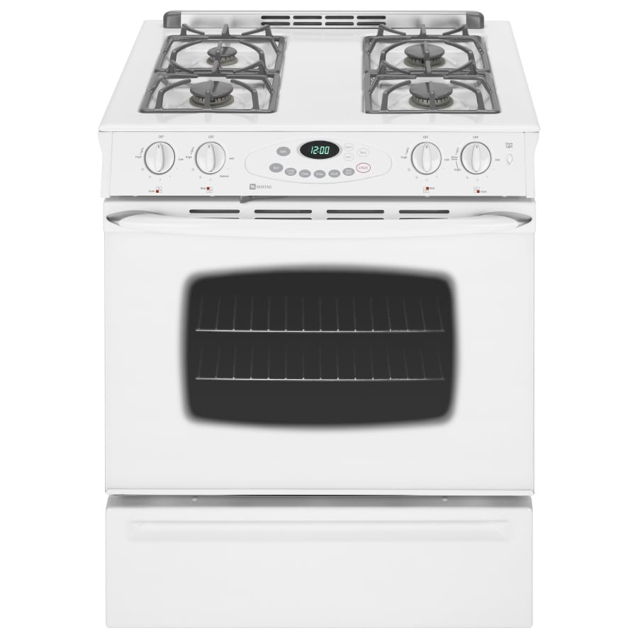 Maytag 30-Inch 4-Burner Slide-In Gas Range (Color: White ...