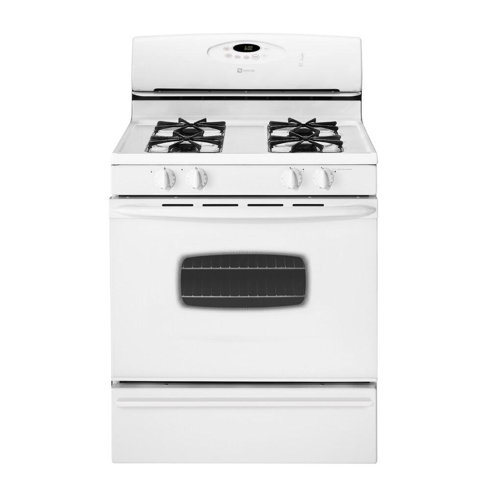 shop maytag 30 inch freestanding gas range color white at. Black Bedroom Furniture Sets. Home Design Ideas