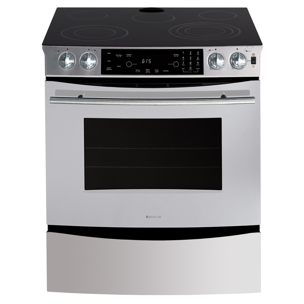 Perfect Jenn Air® 30 Inch Updraft Slide In Electric Range (Color: