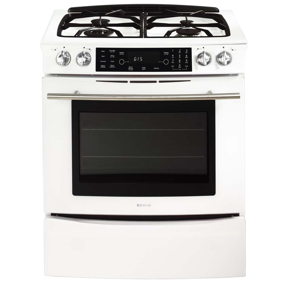 Jenn Air 30 Inch Gas Slide In Range Color White