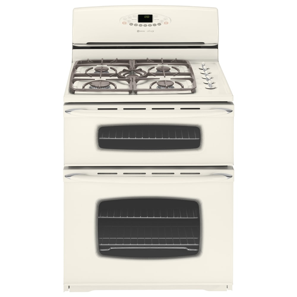 maytag 30inch doubleoven free standing gas range color bisque