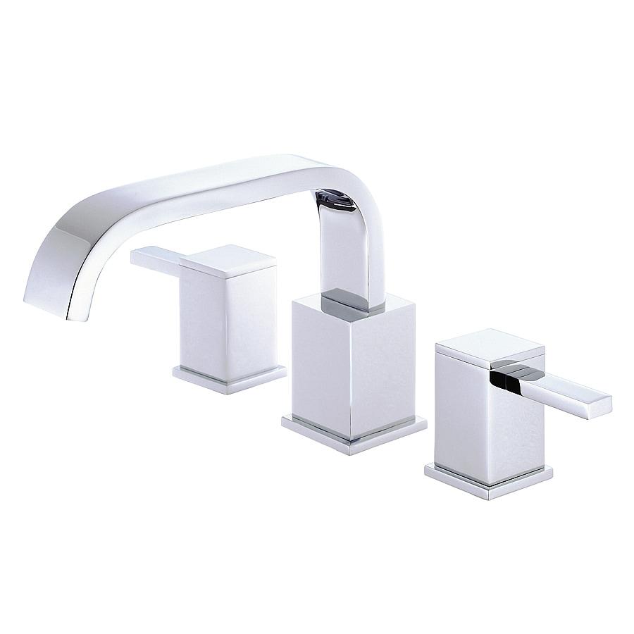 Shop Danze Reef Chrome 2 Handle Adjustable Deck Mount Bathtub Faucet At