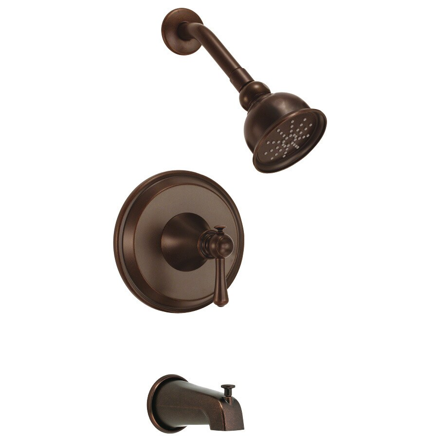 Danze Cape Anne Tumbled Bronze 1-Handle Bathtub and Shower Faucet Trim Kit with Single Function Showerhead