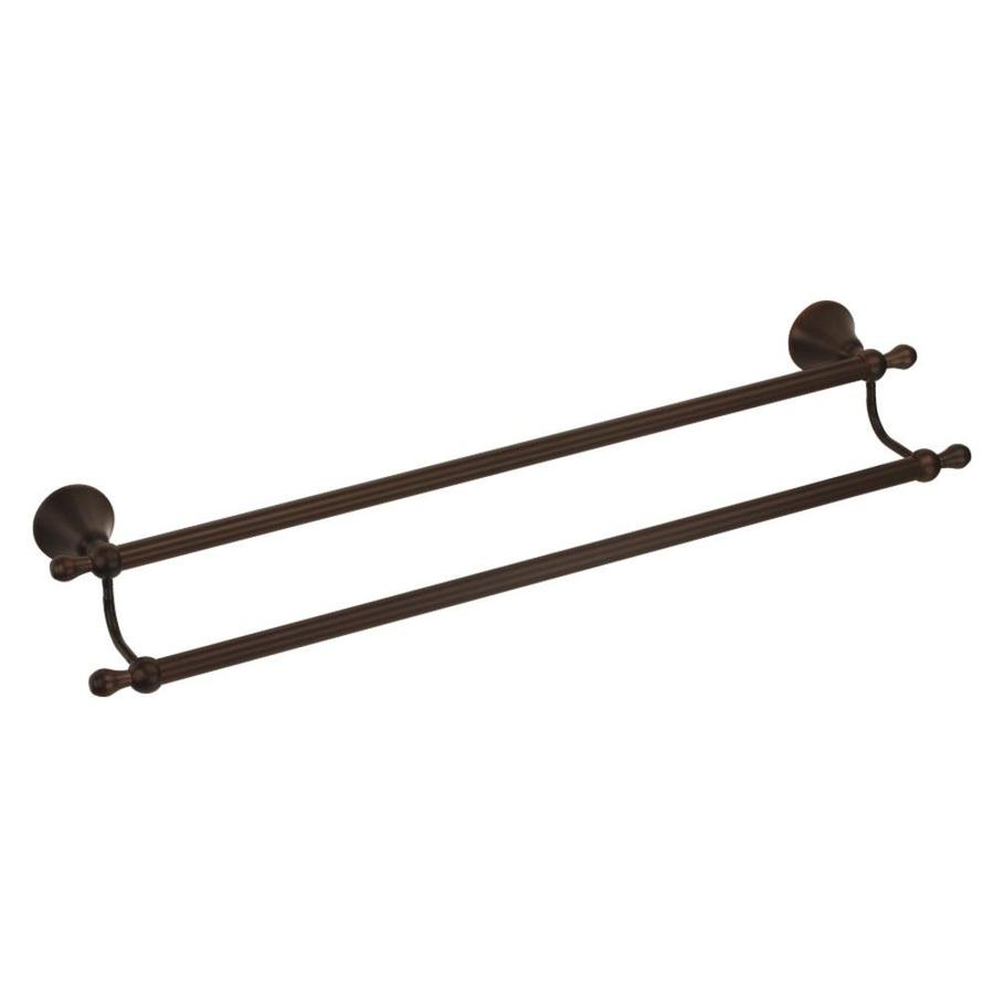 Danze Bannockburn Tumbled Bronze Double Towel Bar (Common: 24-in; Actual: 24-in)