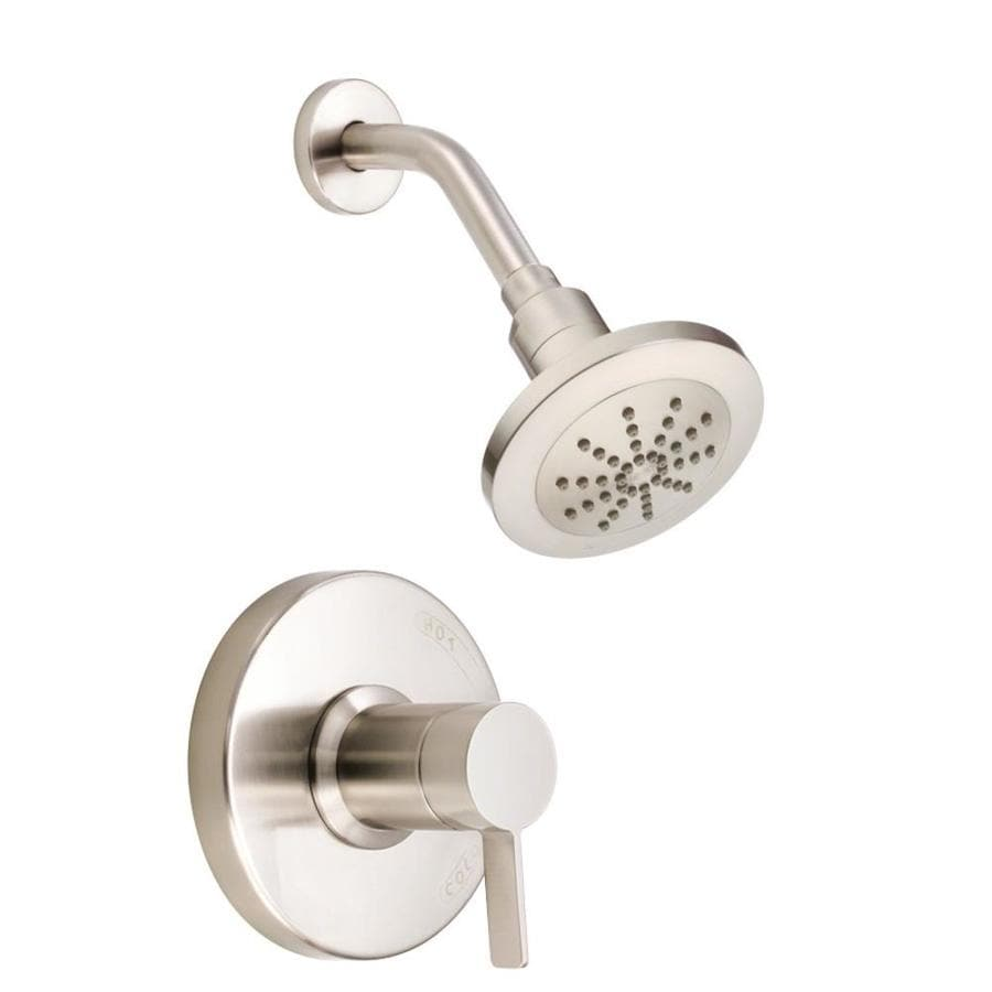 Danze Amalfi Brushed Nickel 1-Handle Shower Faucet Trim Kit with Single Function Showerhead