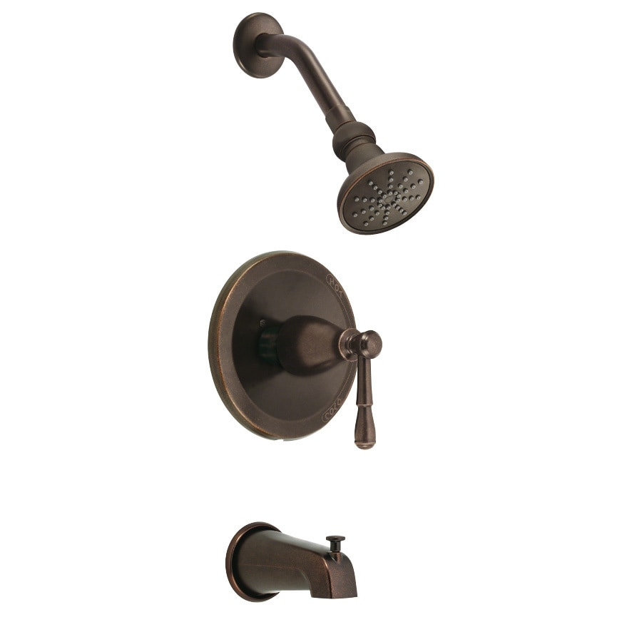 Danze Eastham Tumbled Bronze 1-Handle Bathtub and Shower Faucet Trim Kit with Single Function Showerhead